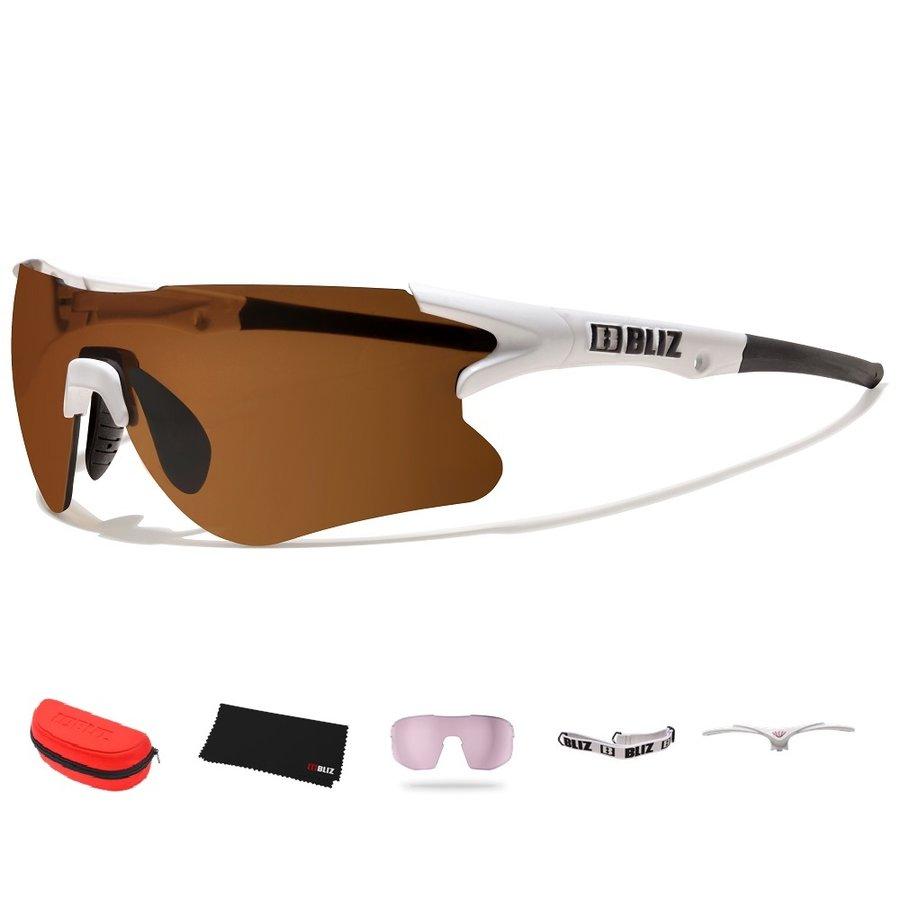 Bílé cyklistické brýle Tempo, Bliz