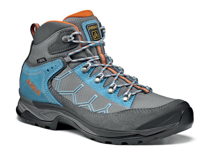 Modro-šedé voděodolné dámské trekové boty Falcon, Asolo