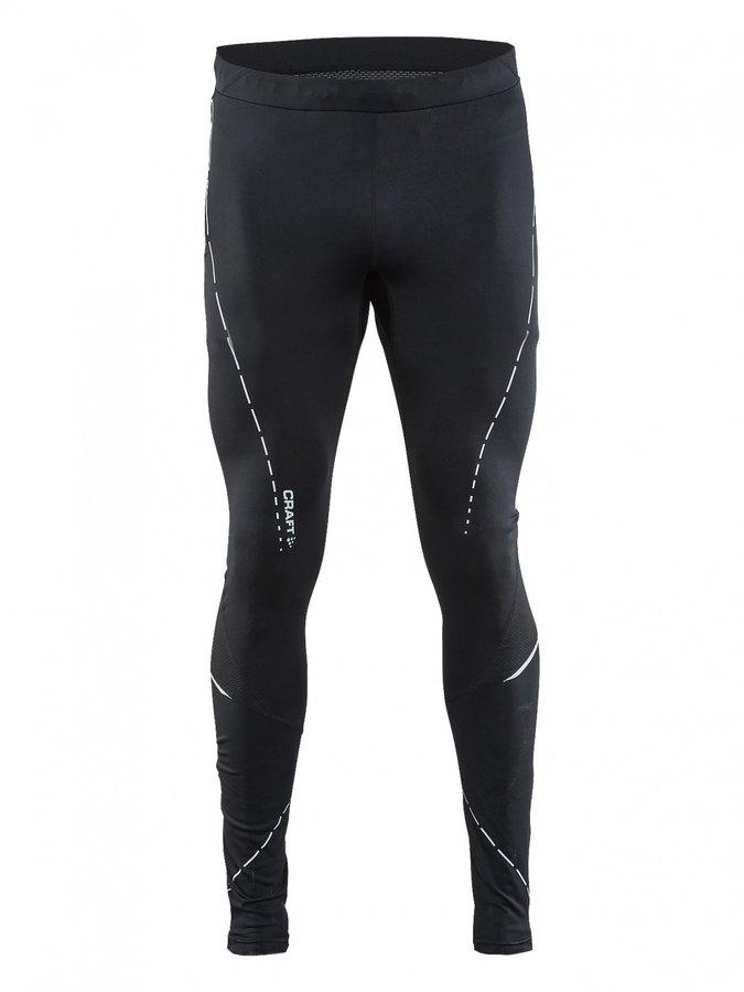 Černé pánské běžecké kalhoty Essential Tights, Craft - velikost M