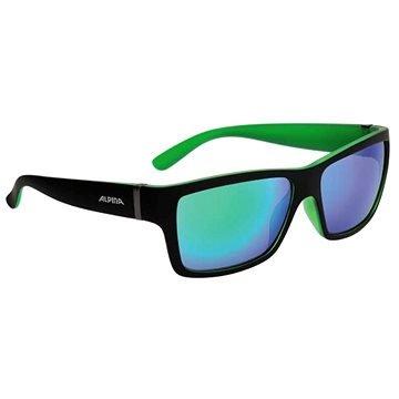 Černo-zelené cyklistické brýle Alpina