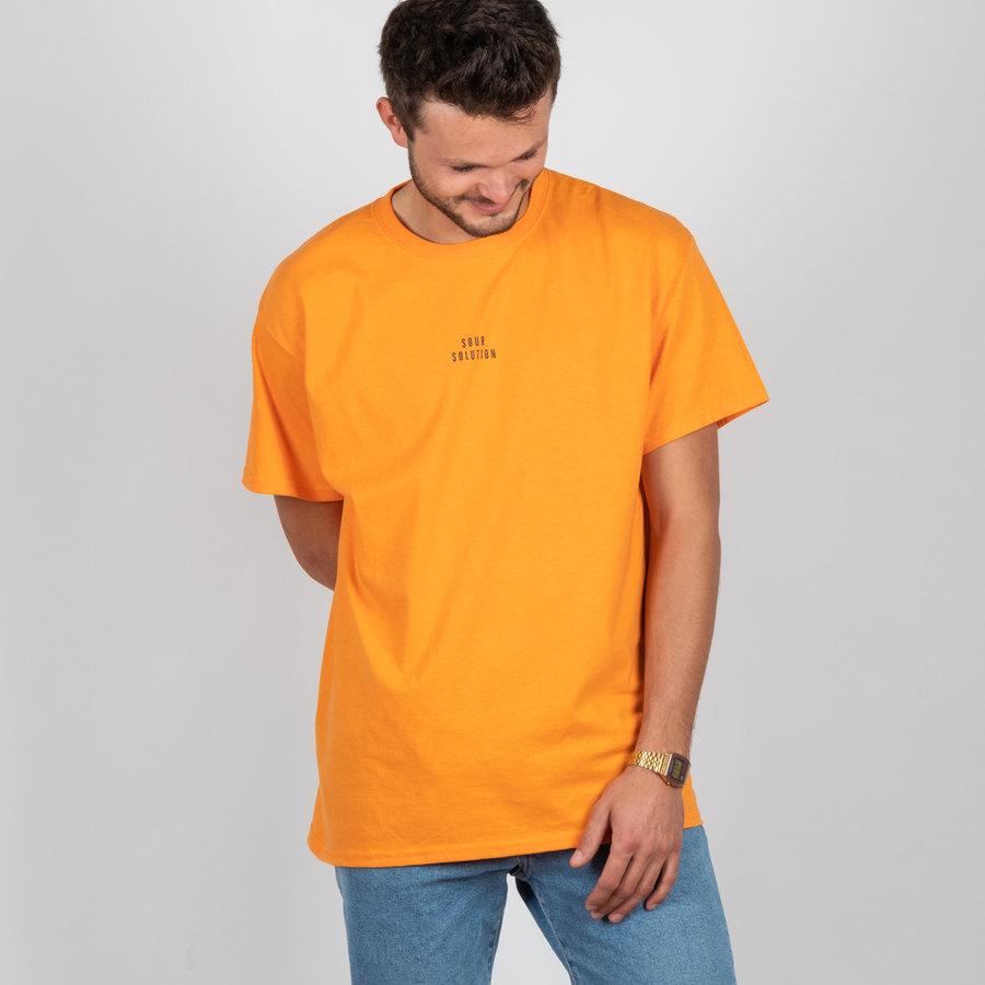 Oranžové pánské tričko s krátkým rukávem Sour Skateboards