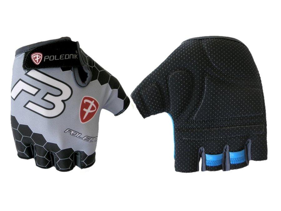 Bílo-černé letní cyklistické rukavice Polednik