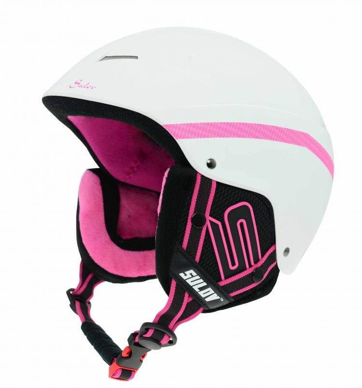 Bílá lyžařská helma Sulov - velikost 58-61 cm