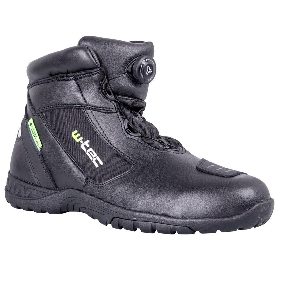 Černé nízké pánské motorkářské boty Electra, W-TEC