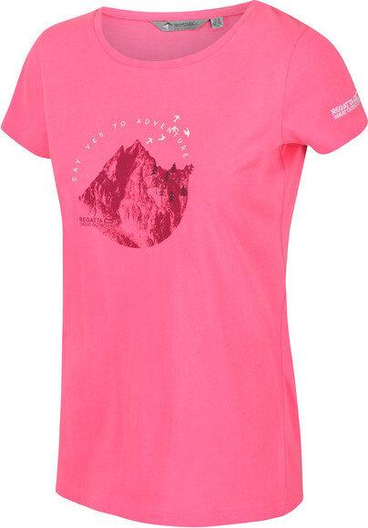 Růžové dámské tričko s krátkým rukávem Regatta