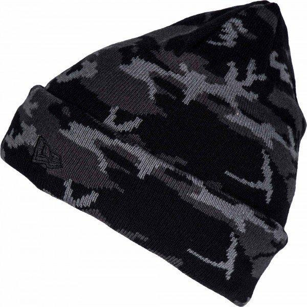 Černo-šedá pánská zimní čepice New Era