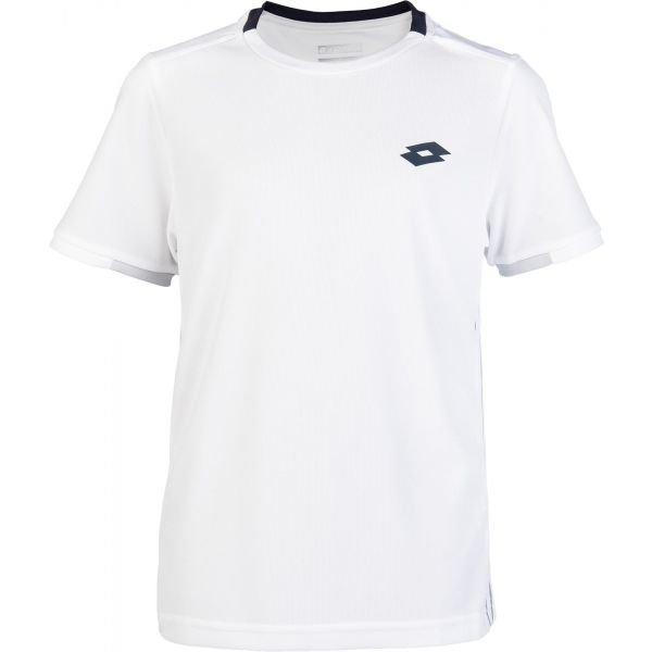 Bílé chlapecké tričko s krátkým rukávem Lotto