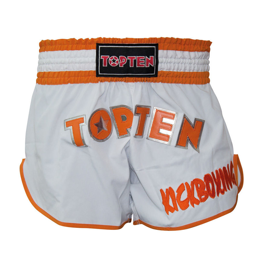 Bílo-oranžové thaiboxerské trenky Top Ten