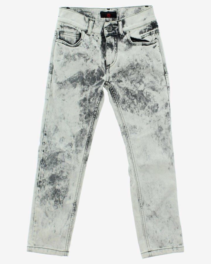 Bílo-šedé dívčí džíny John Richmond - velikost 116