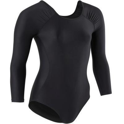 Černý dívčí baletní trikot Domyos - velikost 151