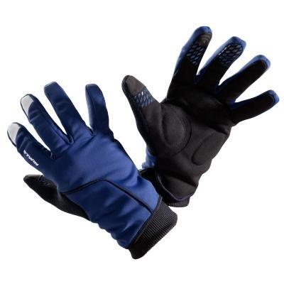 Modré zimní cyklistické rukavice B'TWIN - velikost 3XL