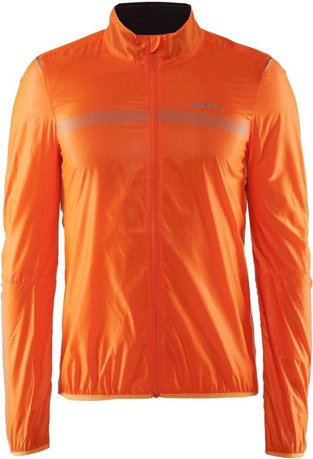 Oranžová pánská cyklistická bunda Craft - velikost M