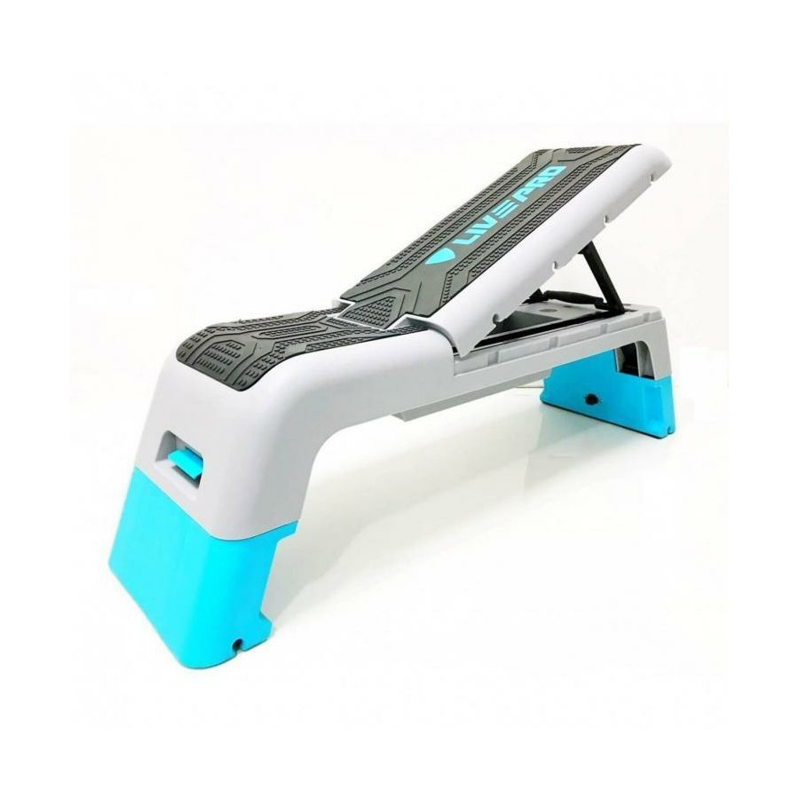 Černo-šedý aerobic step LivePro