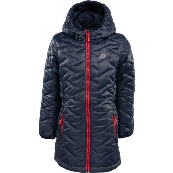 Modrý zimní dívčí kabát Alpine Pro