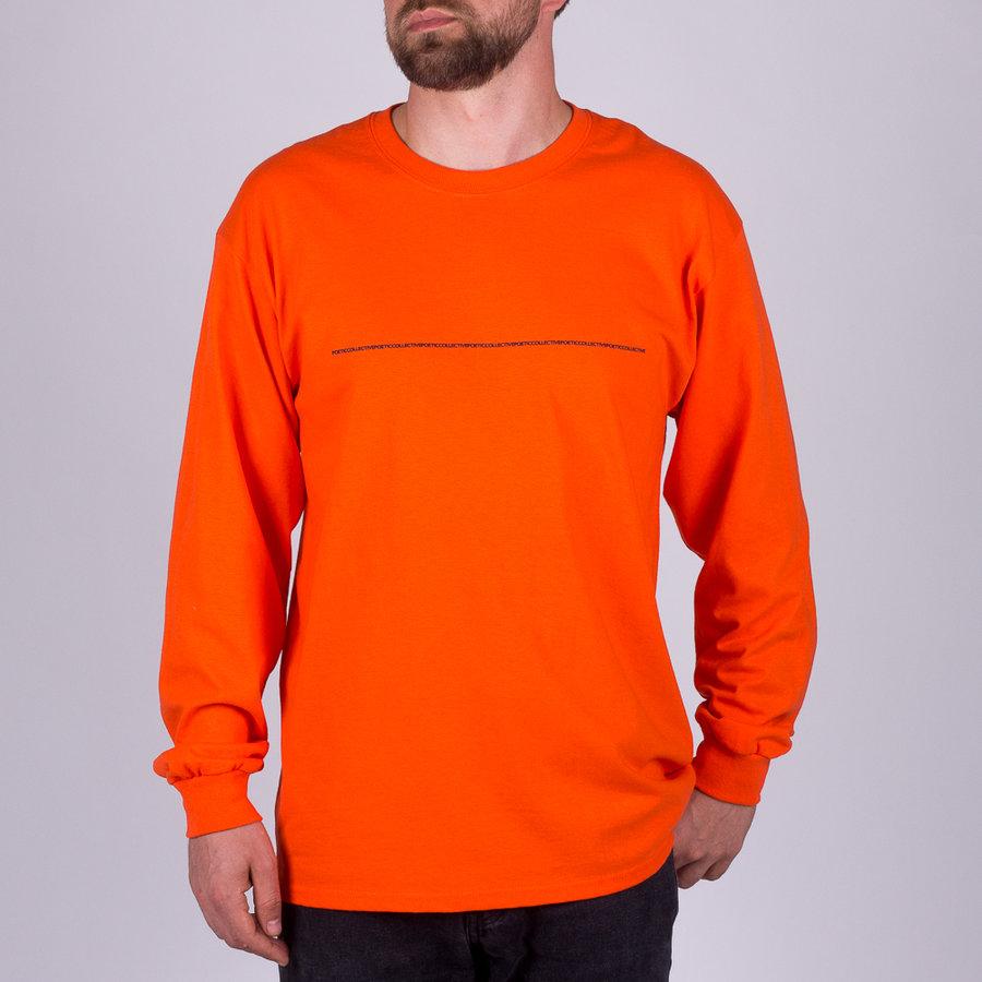 Oranžové pánské tričko s dlouhým rukávem Poetic Collective - velikost M