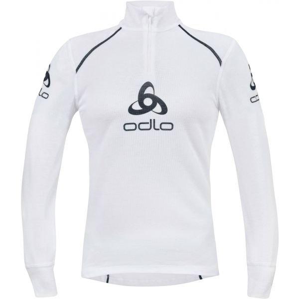 Bílé pánské funkční tričko s dlouhým rukávem Odlo