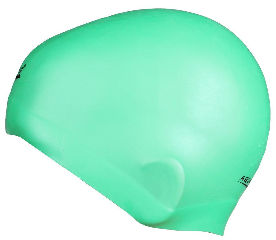 Zelená pánská nebo dámská plavecká čepice RACER, Aqua-Speed