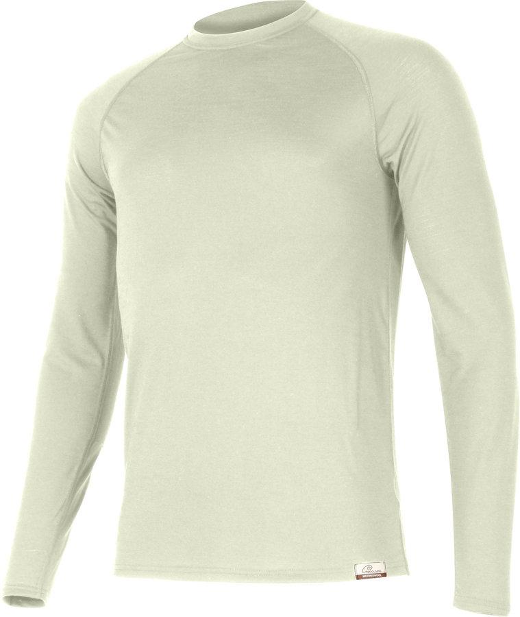Béžové pánské tričko s dlouhým rukávem Lasting