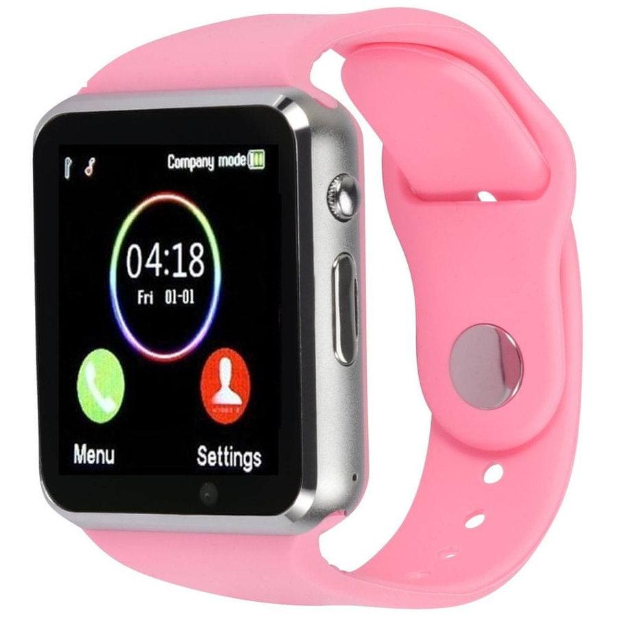 Růžové digitální chytré hodinky Squarz, Smartomat