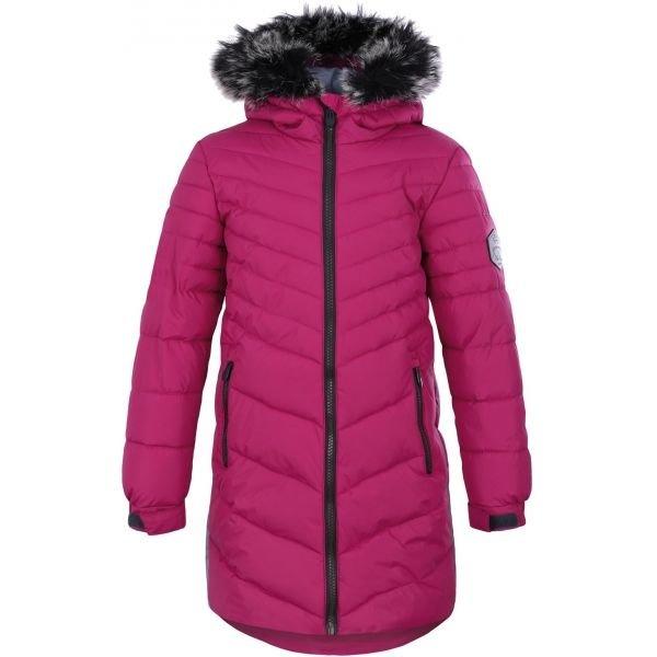 Růžový dívčí kabát Loap - velikost 146-152