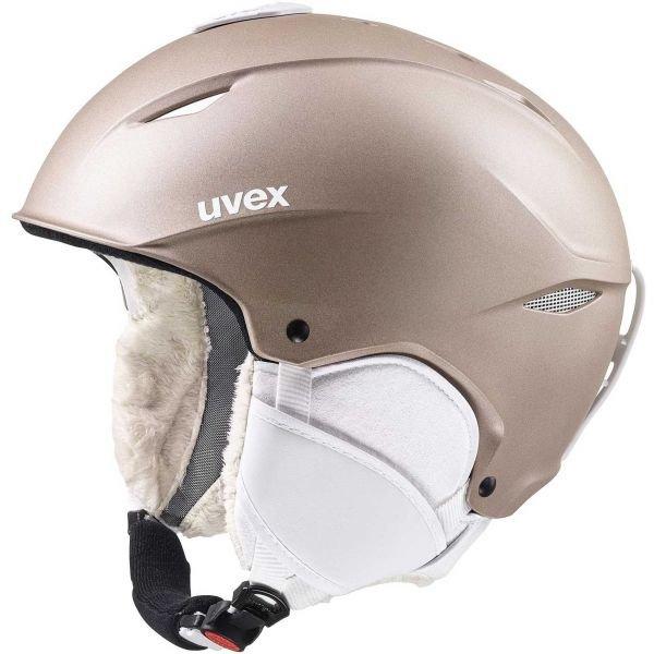 Béžová dámská lyžařská helma Uvex - velikost 52-55 cm