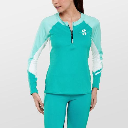 Modré dámské lycrové tričko CARIB RG LS C-FLOW WN U50, Scubapro - velikost M