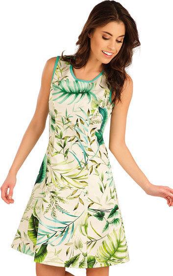 Bílo-zelené dámské šaty Litex