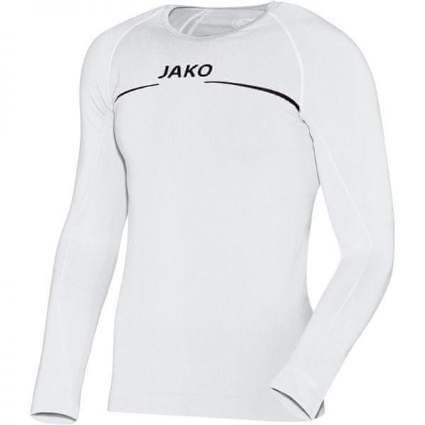 Bílé basketbalové tričko s dlouhým rukávem Jako