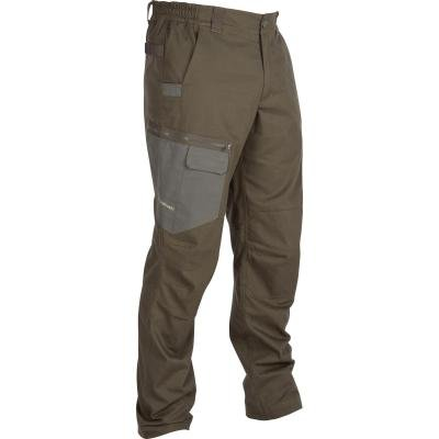 Khaki lovecké kalhoty Solognac