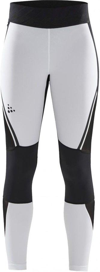 Bílo-černé dámské běžecké legíny Craft