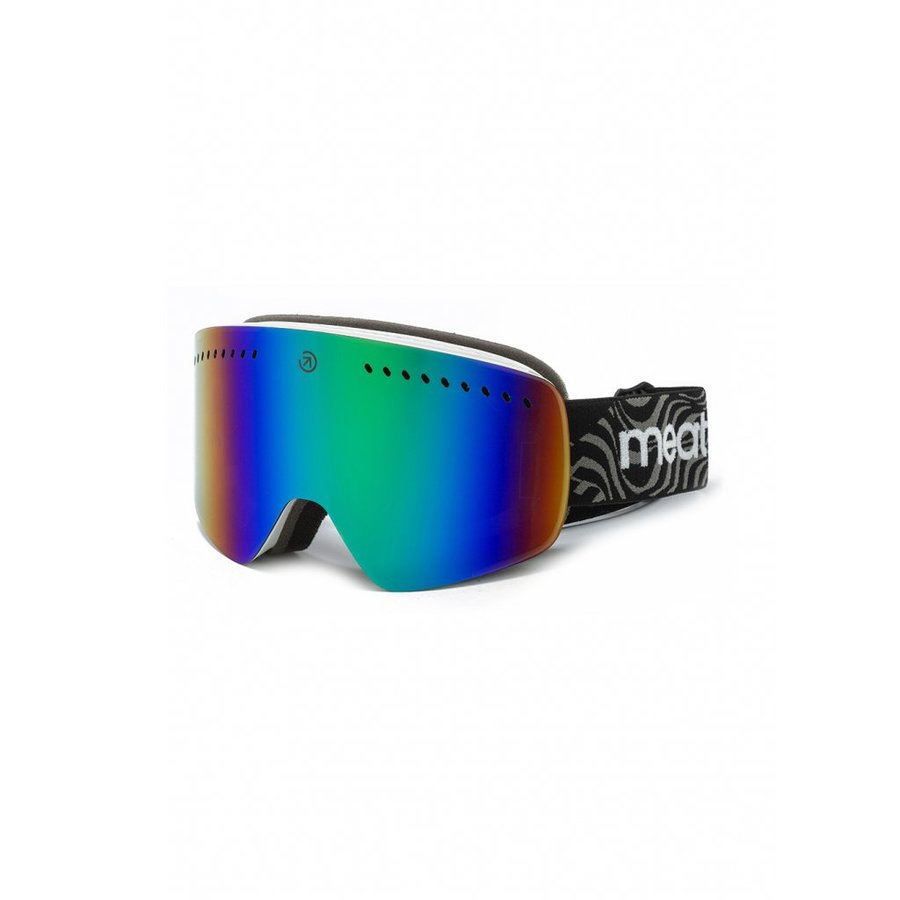 Brýle na snowboard - Meatfly Makki S Goggles A - White Velikost: S