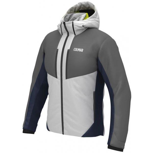 Bílo-šedá pánská lyžařská bunda Colmar - velikost XXL