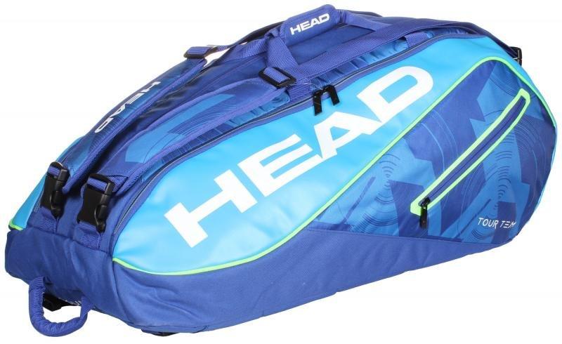 Bílo-černá tenisová taška Head