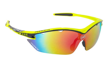 Žluté cyklistické brýle RON, Force