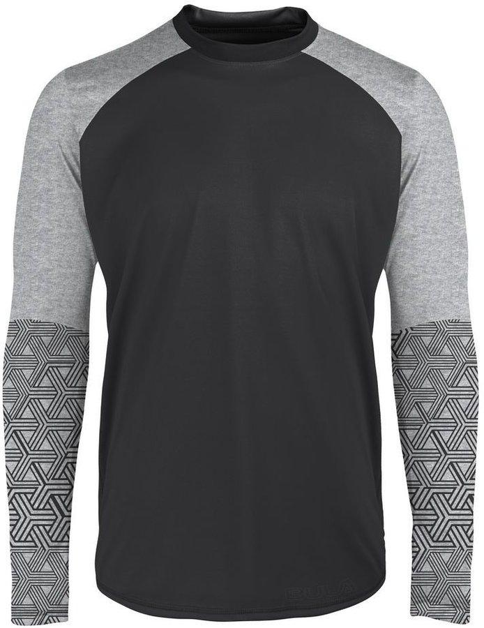 Černo-šedé pánské funkční tričko Bula