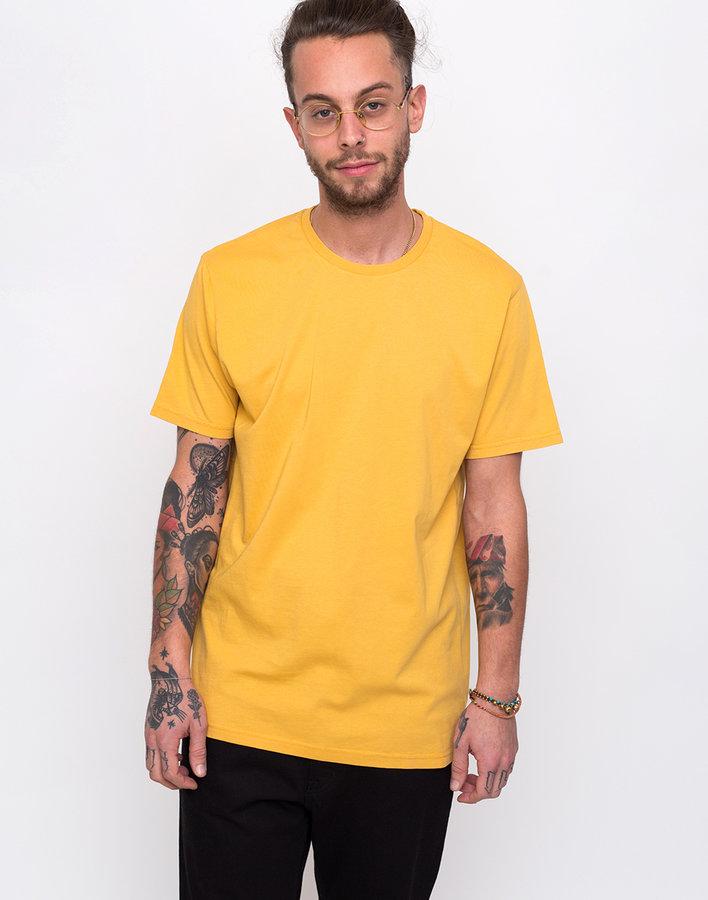 Žluté pánské tričko s krátkým rukávem Colorful Standard