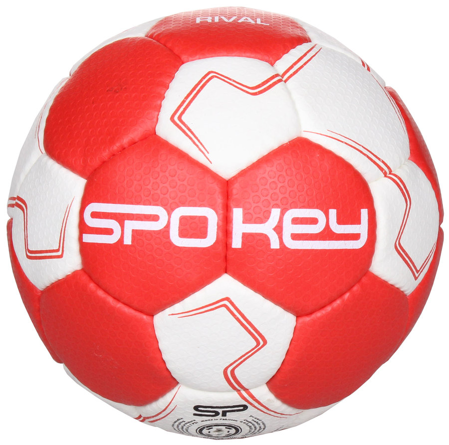 Bílo-červený míč na házenou Rival, Spokey - velikost 3