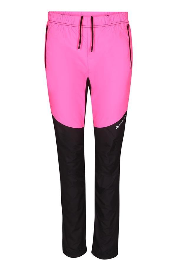 Růžové dámské běžecké kalhoty Alpine Pro - velikost M