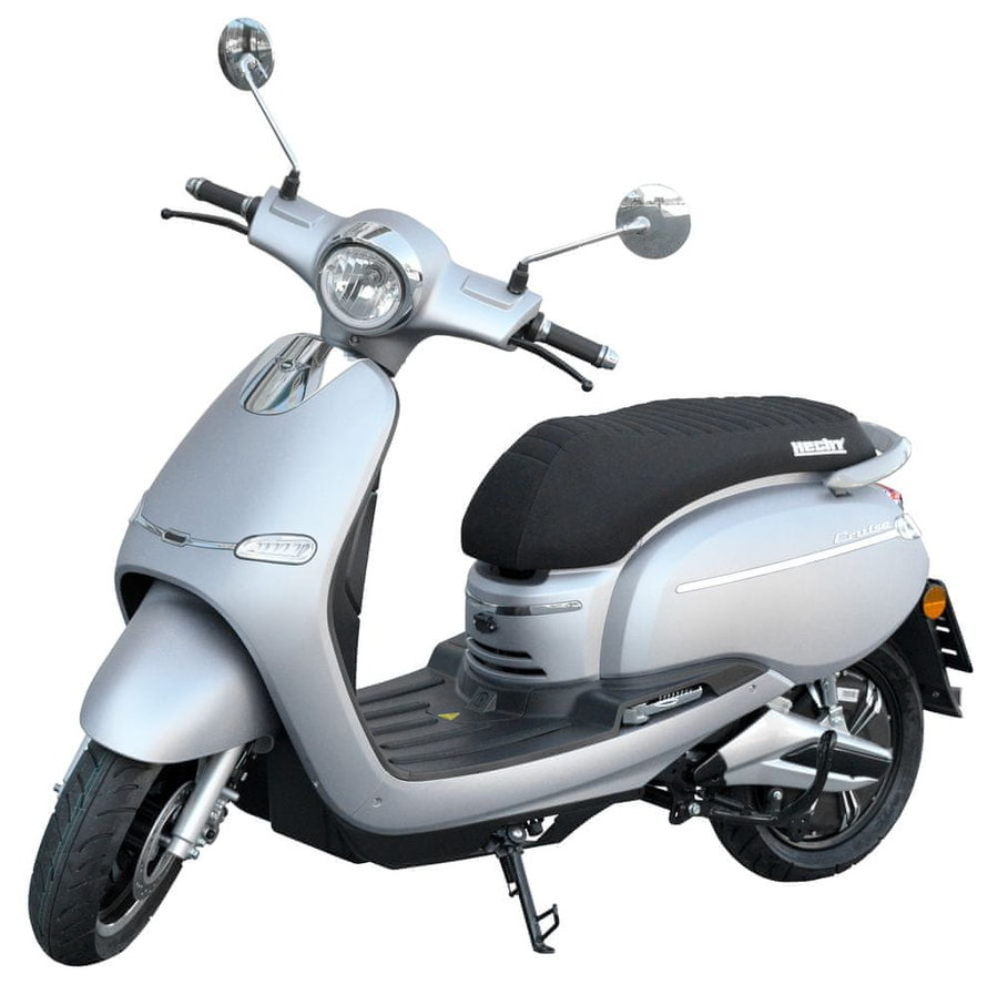 Stříbrná elektrická motorka Citis, HECHT
