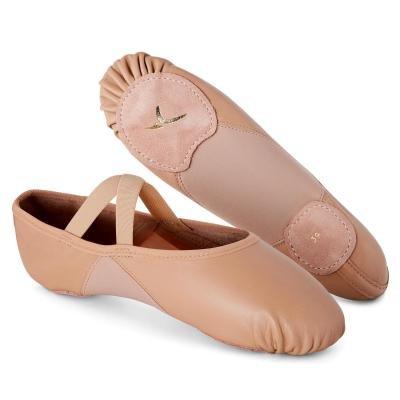 Růžové kožené baletní piškoty Domyos