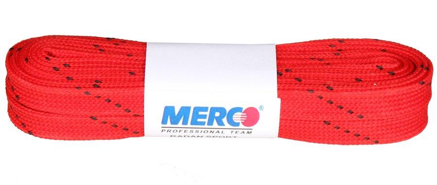 Červené tkaničky do hokejových bruslí Merco