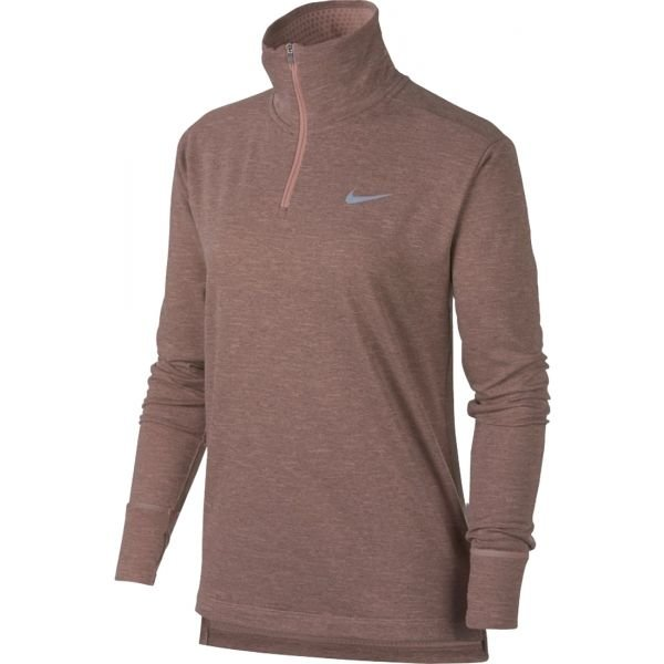 Béžovo-růžové dámské běžecké tričko Nike