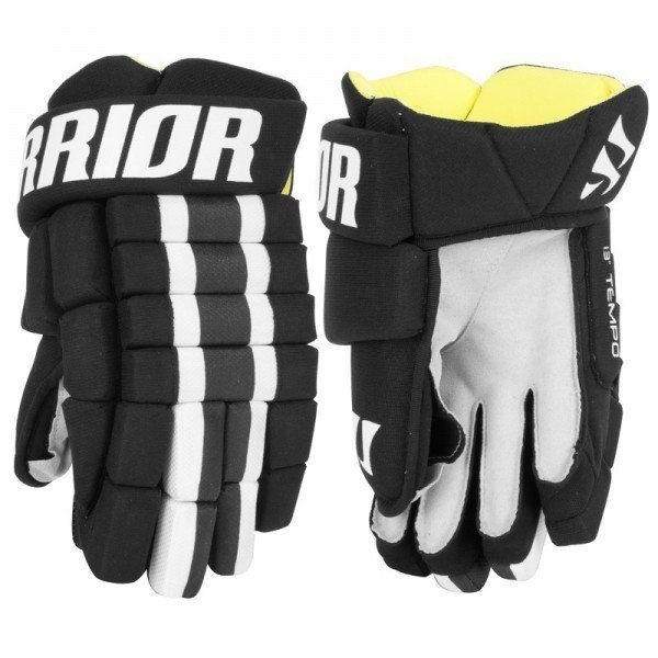 "Černé hokejové rukavice - senior Tempo, Warrior - velikost 12"""