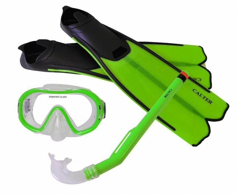 Potápěčská sada - Potápěčský set CALTER KIDS S06+M168+F41 PVC, zelený