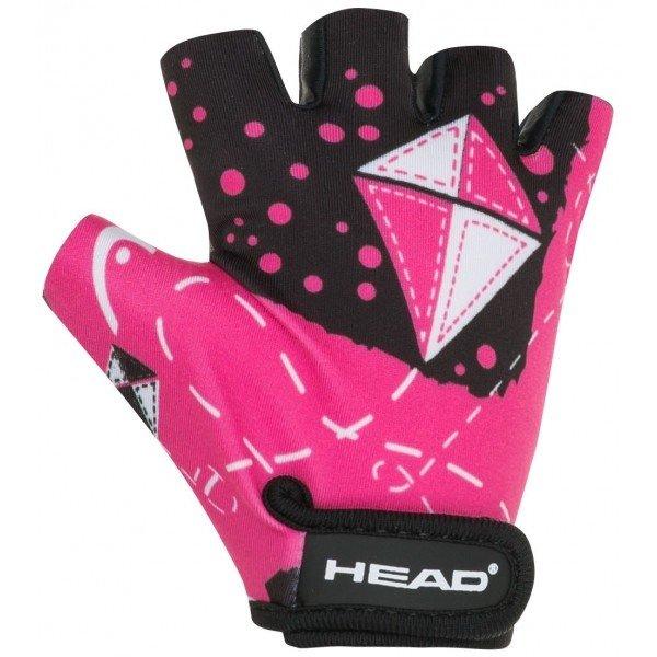 Růžové dívčí cyklistické rukavice Head - velikost XL