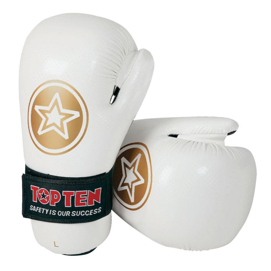 Bílá karate rukavice Top Ten - velikost L