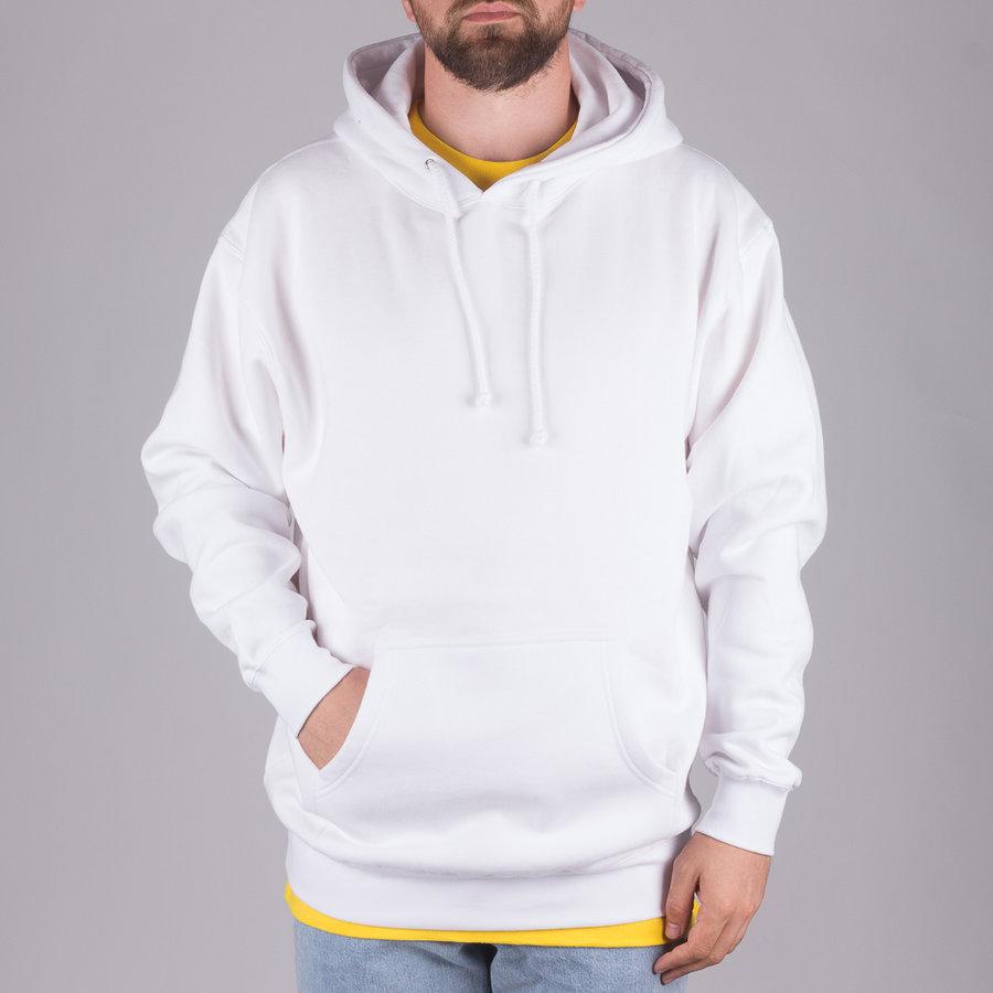 Bílá pánská mikina s kapucí Skateboard Cafe - velikost M