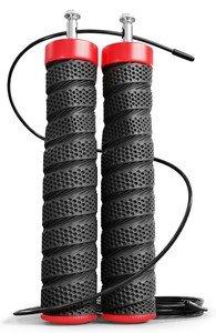 Černé odlehčené švihadlo Hop-Sport - délka 300 cm