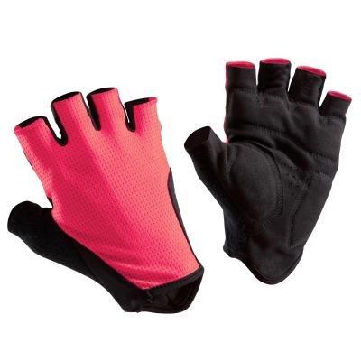 Růžové cyklistické rukavice B'TWIN