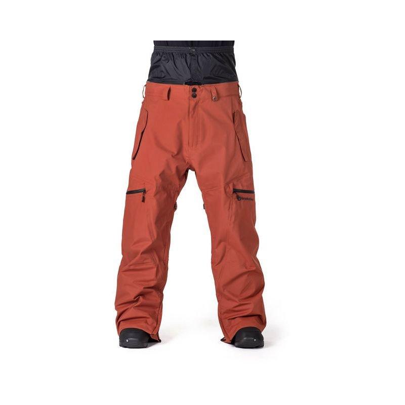 Hnědo-oranžové pánské snowboardové kalhoty Horsefeathers - velikost M